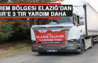 Deprem Bölgesi Elazığ'dan İzmir'e 3 Tır...