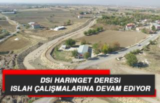 DSİ Haringet Deresi Islah Çalışmalarına Devam...