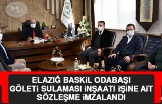 Elazığ Baskil Odabaşı Göleti Sulaması İnşaatı...
