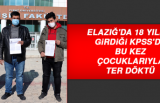 Elazığ'da 18 Yıldır Girdiği KPSS'de...