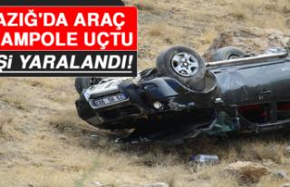 Elazığ'da Araç Şarampole Uçtu: 1 Yaralı