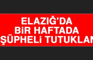 Elazığ'da Bir Haftada 26 Şüpheli Tutuklandı