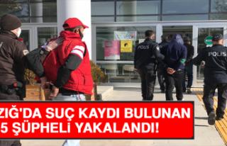 Elazığ'da Çok Sayıda Suç Kaydı Bulunan...