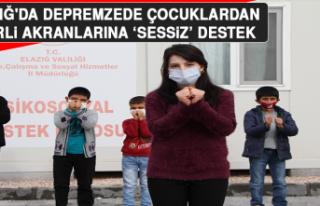 Elazığ'da Depremzede Çocuklardan, İzmirli...
