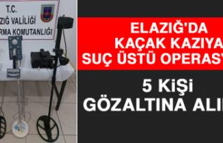 Elazığ'da Kaçak Kazıya Suç Üstü Operasyon:...
