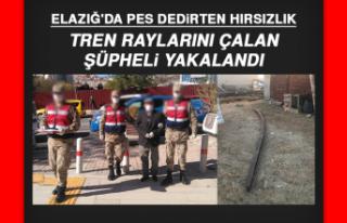 Elazığ'da pes dedirten hırsızlık! Tren raylarını...