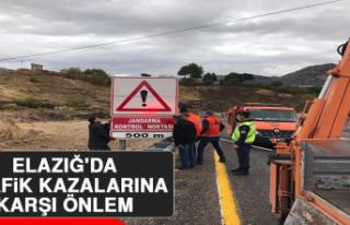 Elazığ'da Trafik Kazalarına Karşı Önlem