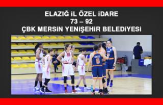 Elazığ İl Özel İdare 73 – 92 ÇBK Mersin Yenişehir...