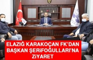 Elazığ Karakoçan FK'dan Başkan Şerifoğulları'na...