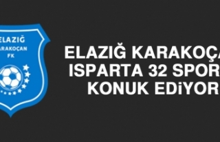 Elazığ Karakoçan, Isparta 32 Spor'u Konuk Ediyor