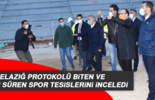 Elazığ Protokolü Biten Ve Yapımı Süren Spor...