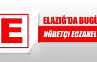 Elazığ'da 9 Kasım'da Nöbetçi Eczaneler