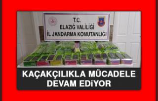 Elazığ'da Kaçakçılıkla Mücadele Devam Ediyor