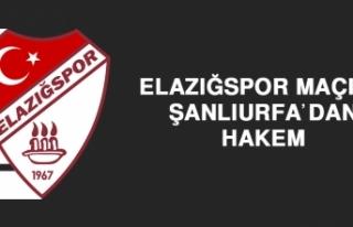 Elazığspor Maçına Şanlıurfa'dan Hakem