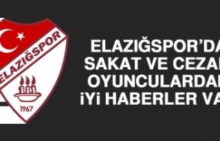 Elazığspor'da Sakat ve Cezalı Oyunculardan İyi...