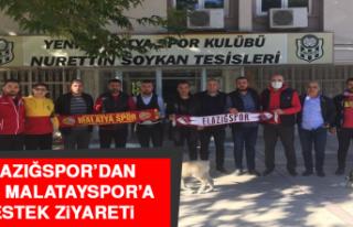 ELAZIĞSPOR'DAN YENİ MALATAYSPOR'A DESTEK ZİYARETİ