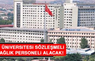 Gazi Üniversitesi Sözleşmeli 50 Sağlık Personeli...