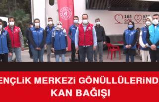 Gençlik Merkezi Gönüllüleri Kan Bağışında...