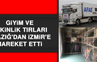 Giyim ve Etkinlik Tırları Elazığ'dan İzmir'e...