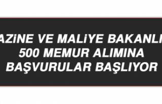 Hazine ve Maliye Bakanlığı 500 Memur Alımına...
