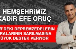 Hemşehrimiz Oruç, İzmir'de Yaraların Sarılmasına...