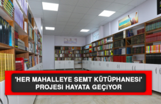 'Her Mahalleye Semt Kütüphanesi' Projesi...