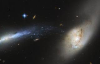 Hubble Uzay Teleskobu, Çarpışma Öncesi İki Dev...