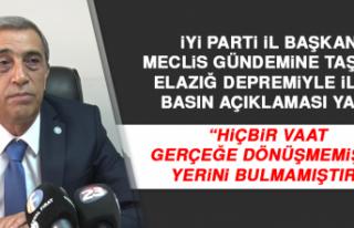 """İYİ Parti İl Başkanı: """"Hiçbir vaat gerçeğe..."""
