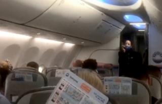 İzmir'den dönen AKUT ekiplerine uçakta alkışlı...