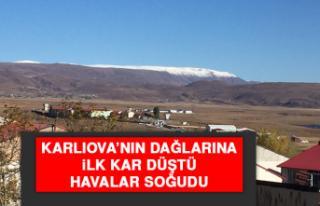 Karlıova'nın Dağlarına İlk Kar Düştü, Havalar...