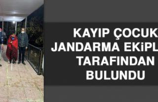 Kayıp Çocuk Jandarma Ekipleri Tarafından Bulundu