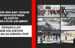 Kayseri Nuh Naci Yazgan Üniversitesi'nden Elazığ'da...
