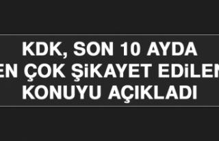 KDK, Son 10 Ayda En Çok Şikayet Edilen Konuyu Açıkladı