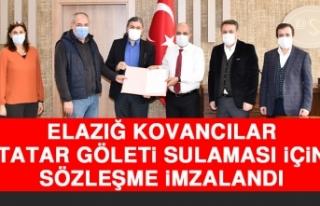 Kovancılar Tatar Göleti Sulaması İçin Sözleşme...
