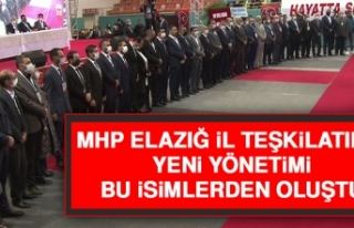 MHP Elazığ İl Teşkilatının Yeni Yönetimi Bu...