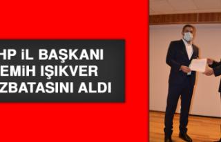 MHP İl Başkanı Semih Işıkver, Mazbatasını Aldı