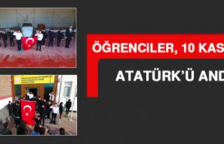 Öğrenciler, 10 Kasım'da Atatürk'ü Andı