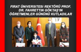 Rektör Prof. Dr. Göktaş'a Öğretmenler Günü...