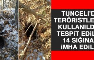 Tunceli'de Teröristlerce Kullanıldığı Tespit...