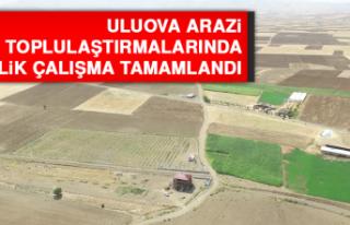 Uluova Arazi Toplulaştırmalarında % 41'lik Çalışma...