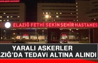 Yaralı Askerler, Elazığ'da Tedavi Altına Alındı