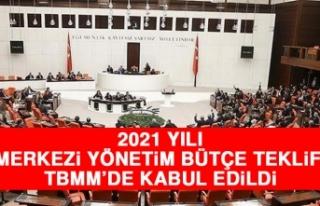 2021 Yılı Merkezi Yönetim Bütçe Teklifi TBMM'de...