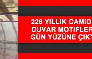 226 Yıllık Camide Duvar Motifleri Gün Yüzüne...