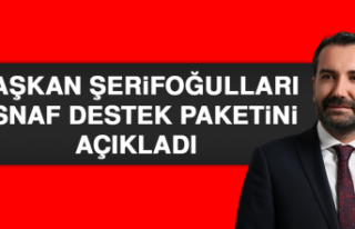 BAŞKAN ŞERİFOĞULLARI, ESNAF DESTEK PAKETİNİ...