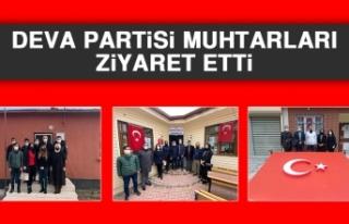 DEVA Partisi Muhtarları Ziyaret Etti