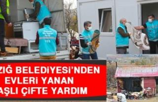 Elazığ Belediyesi'nden Evleri Yanan Yaşlı Çifte...