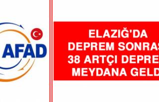 Elazığ'da Deprem Sonrası 38 Artçı Deprem...