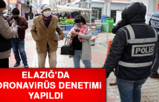 Elazığ'da Koronavirüs Denetimi Yapıldı