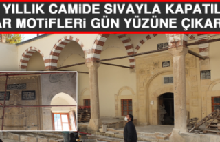 Elazığ'daki 226 Yıllık Camide Sıvayla Kapatılan...