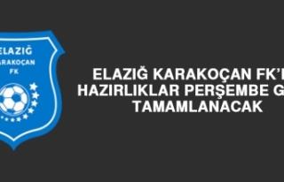 Elazığ Karakoçan FK'da Hazırlıklar Perşembe...